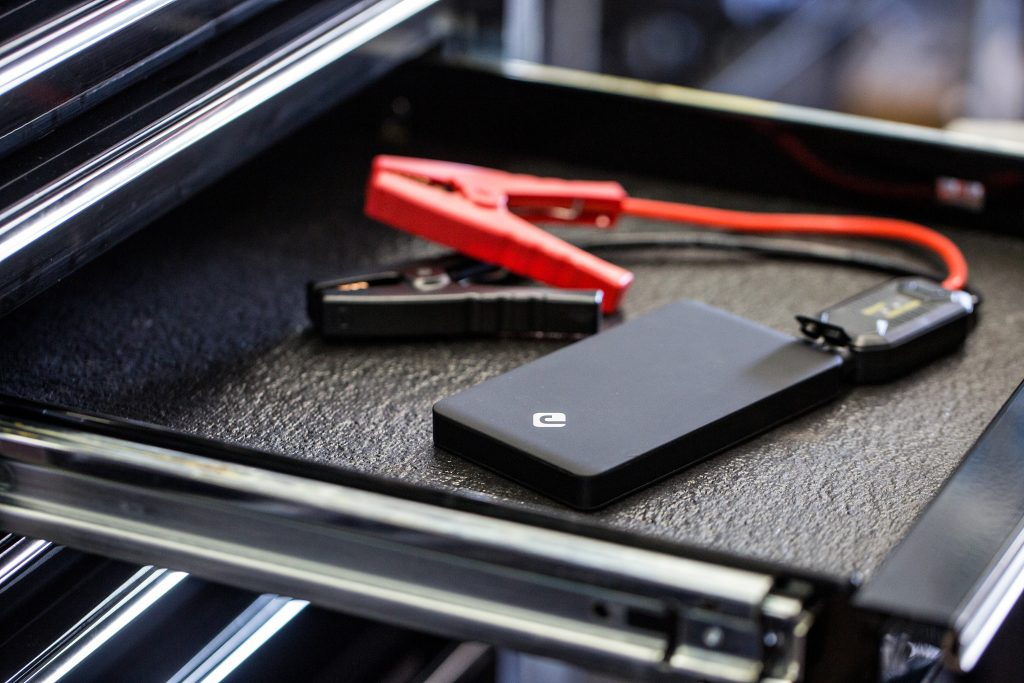 junojumper portable jump starter is a compact solution that fits easily in your tool drawer