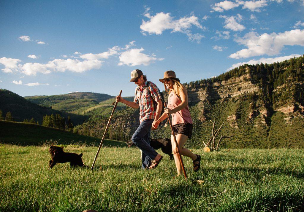 Brazos ergonomic wooden walking sticks for hiking