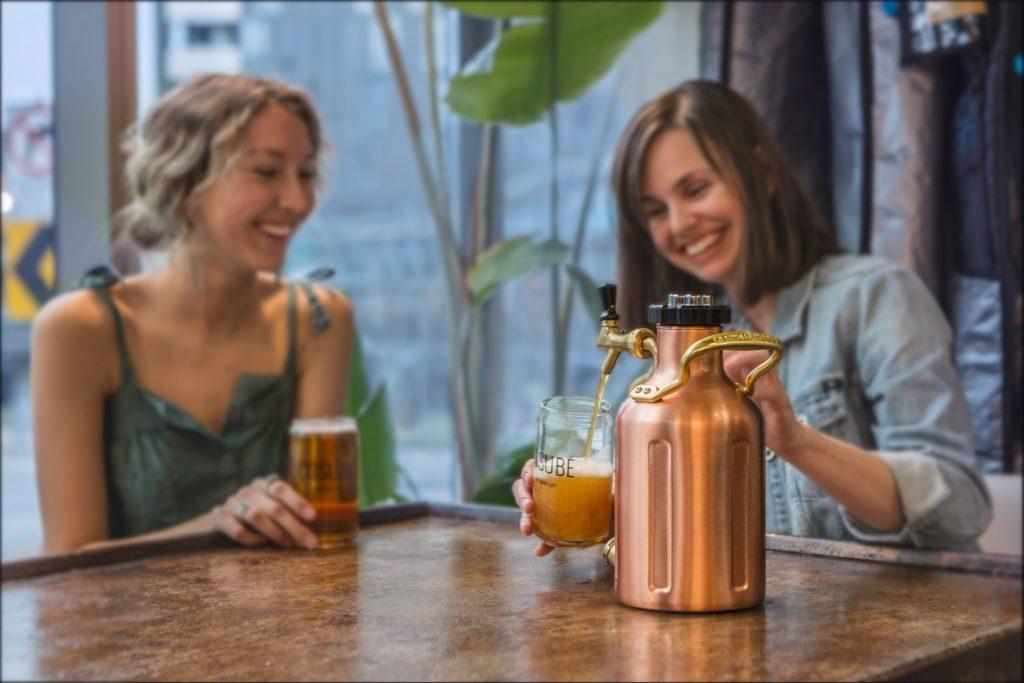 GrowlerWerks copper pressurized growler kegs