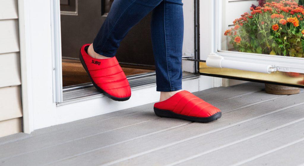 subu red indoor outdoor slippers