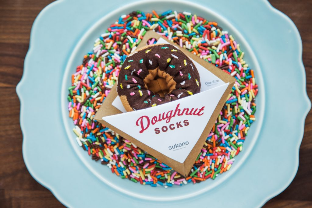 Doughnut socks from Sukeno Socks