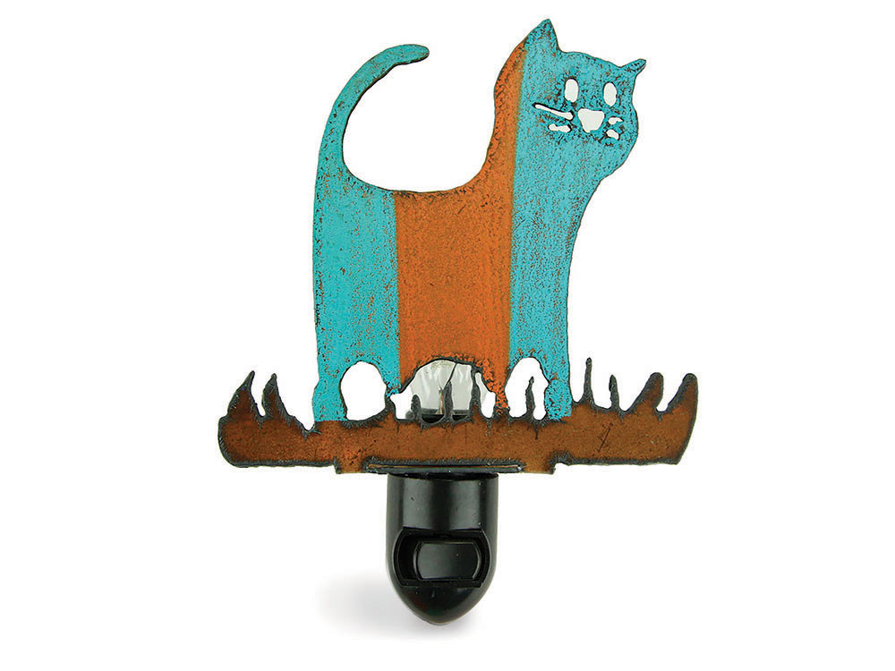 Whimsies recycled metal cat night light