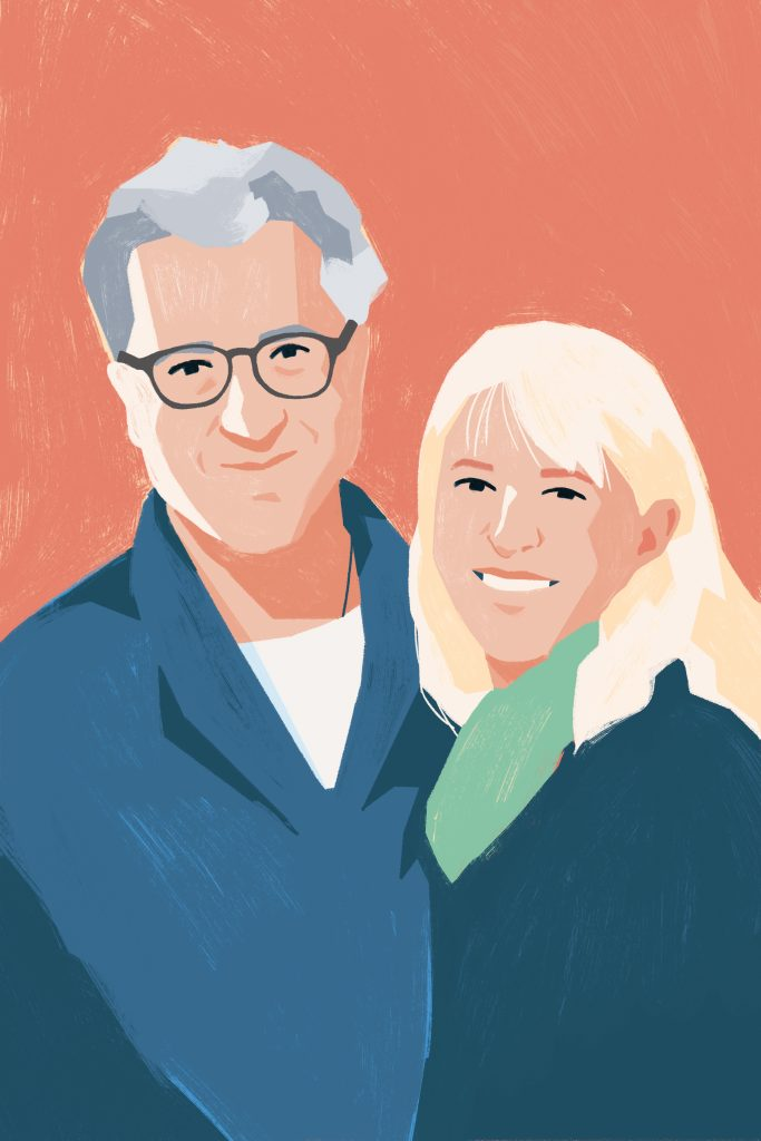 Illustration of Michael Joly and Alene Sibley of solu