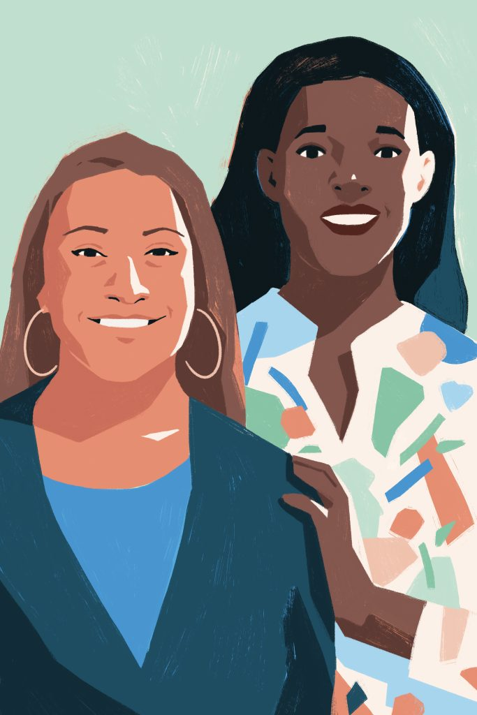 Illustration of Leah Wright-Williams and Andrea Alli of Spotlite HD